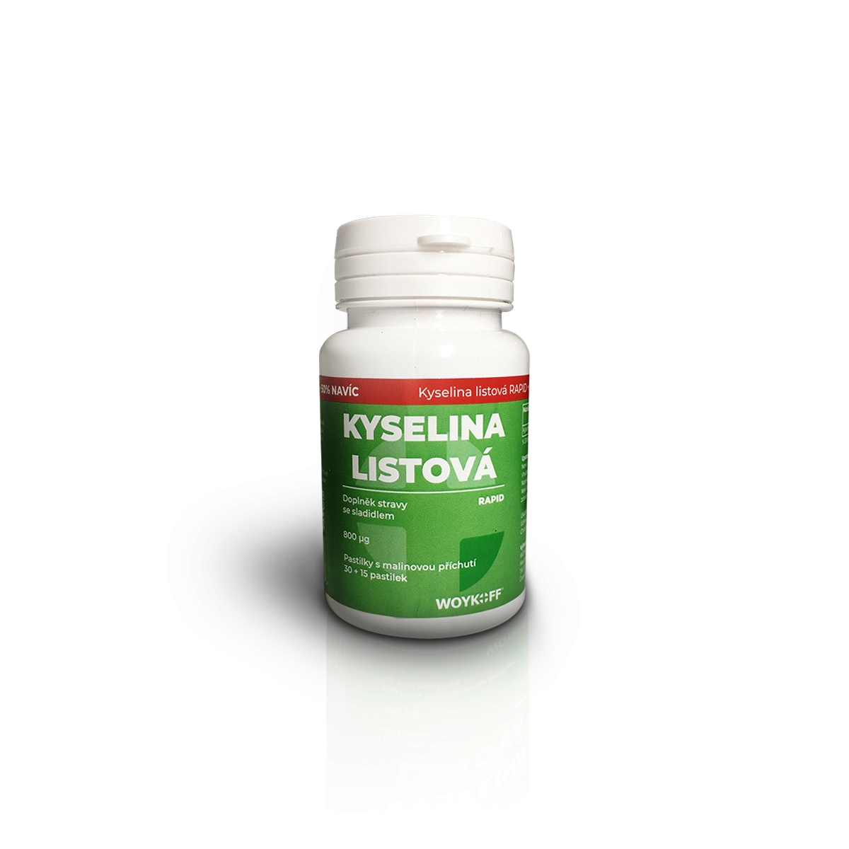 Woykoff Kyselina listová RAPID 30+15 pastilek